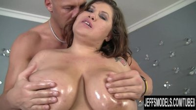 Giant breasted Kacey Parker is filled with dick