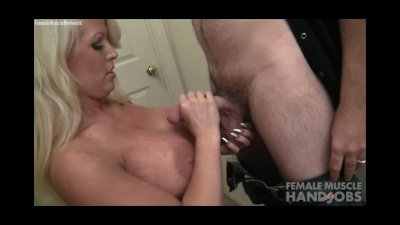 Alura Jenson Stretching and Giving a Handjob