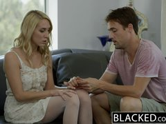 ebonyED Hot Blonde Girl Cadenca Lux Pays Off Boyfriends Debt By Fucking BBC