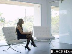 Preview 1 of Ebonyed Petite Blonde Screams On Huge Ebony Dick