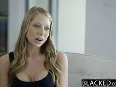 Preview 2 of Ebonyed Petite Blonde Screams On Huge Ebony Dick