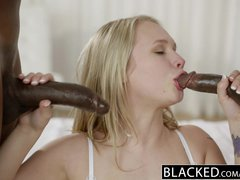 Preview 8 of Ebonyed Beautiful Blonde Dakota James Screams With 2 Big Ebony Cocks