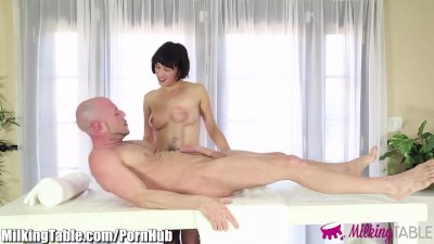 Milking Table Client Flynt Cumming back for More Blowjobs