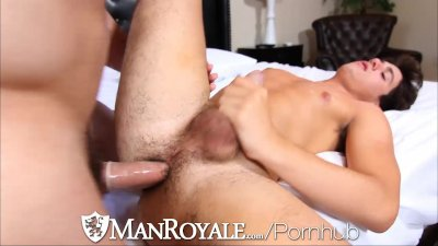 ManRoyale Muscle guy can't wait to get naked to fuck his friend