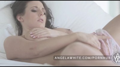 Big Tit Australian Angela White Masturbating in Bed