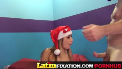 Little Latin Girl With Bald Pussy Fucked Hard