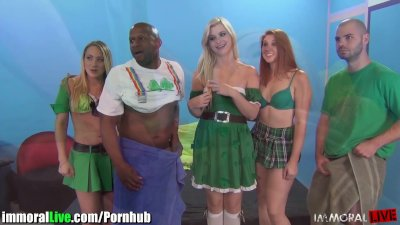 St.Patrick's pornstar orgy party! Vol.3