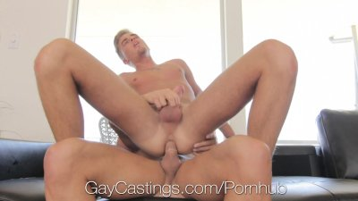 HD GayCastings - Young guy explodes with cum at his audition