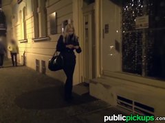 Mofos   Euro babe strips in the street for cash