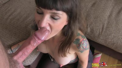 FakeAgentUK Tattoed brunette loves agents cock up her bum in anal casting