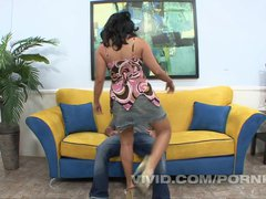 Lucky Star gets her soft Asian bush penetrated by an eager hard cock