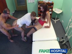Preview 3 of Fakehospital Hot Nurse Joins Doctor And Sexy Patient For Threesome