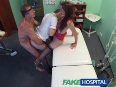 Preview 4 of Fakehospital Hot Nurse Joins Doctor And Sexy Patient For Threesome