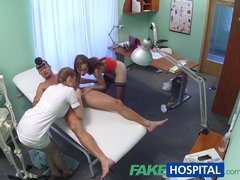 Preview 5 of Fakehospital Hot Nurse Joins Doctor And Sexy Patient For Threesome