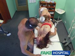 Preview 6 of Fakehospital Hot Nurse Joins Doctor And Sexy Patient For Threesome