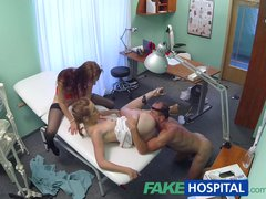 Preview 8 of Fakehospital Hot Nurse Joins Doctor And Sexy Patient For Threesome