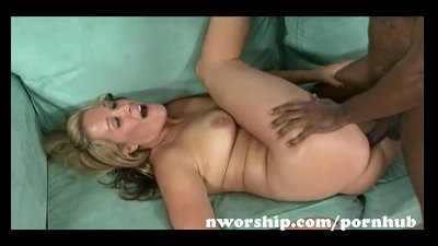 hot blonde milf enjoy interracial sex with big black cock and black cum