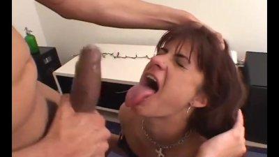 crazy amateur brunette eats as