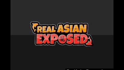 Busty Asian Slut Eats Cum