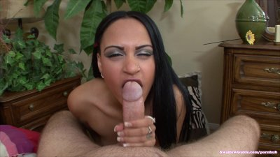 Kimberly Kendall licks her lollypop cock