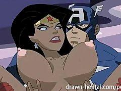 Preview 6 of Superhero Hentai - Wonder Woman Vs Captain America