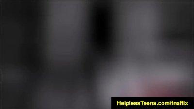 HelplessTeens Brittany Shae endures bdsm outdoors