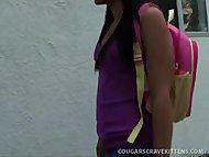 Hot MILF Seduces Cute Teen Girl!