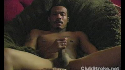 Muscular Black Straight Guy Braxton Masturbating
