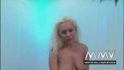 MMVFilms Cum thirsty Bukkake loving German gangbanged