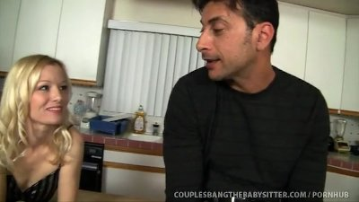 Horny Couple Fuck Their Teen Babysitter!