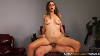 HDVPass Horny brunette Sabrina Taylor sucks off Older man before fucking