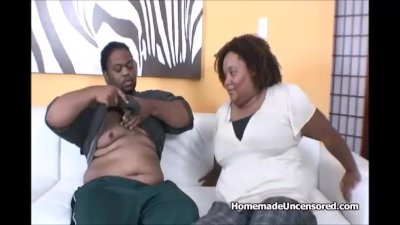Huge tits ebony BBW anal fucking