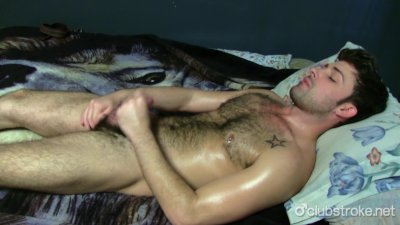 Tattooed Straight Guy Adam Masturbating