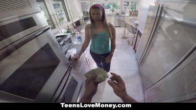 TeensLoveMoney - Big Booty Klara Gold Takes a Pounding For Cash!