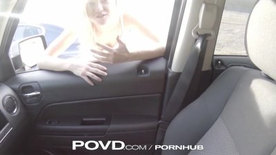 POVD Stranded blonde fucked hard by rescuer