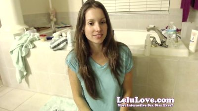 Lelu Love-WEBCAM: Bathtub Shaving Foot Scrubbing