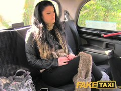 Preview 5 of Faketaxi Her Choice Is Get Out And Walk Or Suck His Cock
