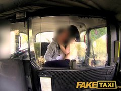 Preview 7 of Faketaxi Her Choice Is Get Out And Walk Or Suck His Cock