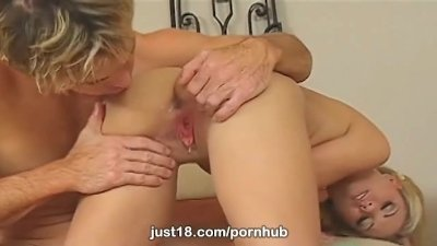 Professor gives busty Aubrey Adams a B+ exclusively at Just18