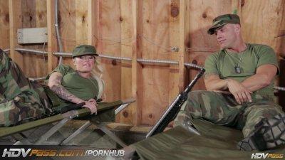 HDVPass Christy Mack fucks in the barracks