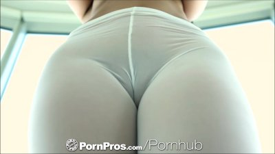 PornPros Girl in sheer tights fucked and toes sucked