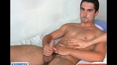Boy next door serviced his big cock by us!