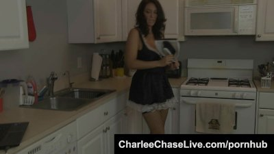 Submissive Big Tit MILF Charlee Chase is Maid to Please a Big Cock!