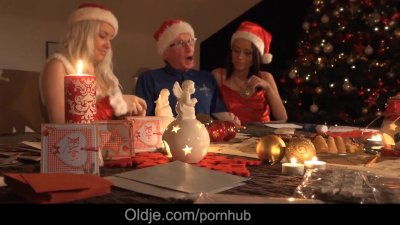 Mr Nobel please two naughty girls with his big old dick