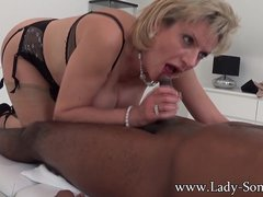 Lady Sonia black guy massage  handjob  blowjob and titjob   the works
