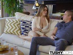 Preview 2 of Tushy First Anal For Curvy Natasha Nice