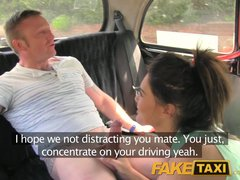 Preview 3 of Faketaxi Outrageuos Hardcore Threesome In The Back On A London Taxi