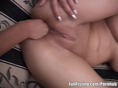 Preview 4 of Horny And Pretty Teen Lesbians Strapon Fisting Fuck