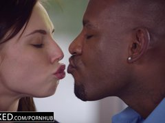 Preview 5 of Ebonyed Beautiful Student Aidra Fox Takes Two Bbcs