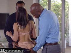Preview 6 of Ebonyed Beautiful Student Aidra Fox Takes Two Bbcs
